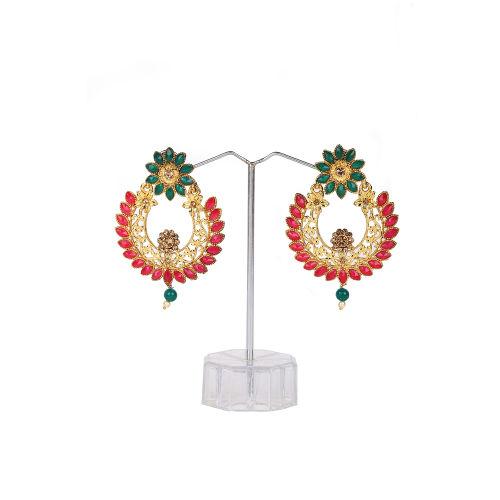 Free Gift Multicolor Chandbali Style Earrings